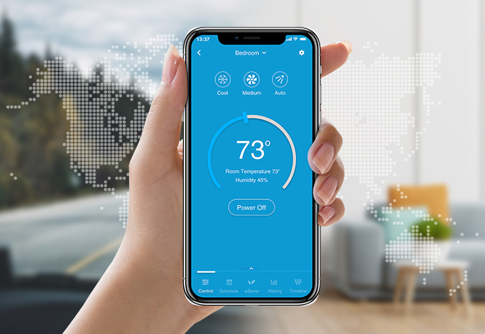 Control your air conditioner remotely with Cielo Breez.